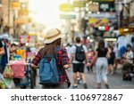 back side of young asian... | Shutterstock . vector #1106972867