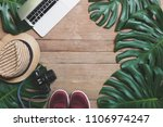 flat lay creative frame of... | Shutterstock . vector #1106974247