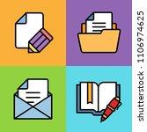 set of document icons. vector... | Shutterstock .eps vector #1106974625
