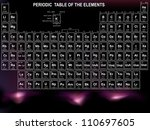 periodic table of the elements ... | Shutterstock .eps vector #110697605