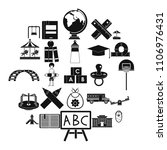 pupil icons set. simple set of... | Shutterstock .eps vector #1106976431
