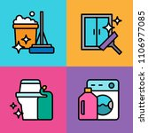 set of cleaning icons. vector... | Shutterstock .eps vector #1106977085
