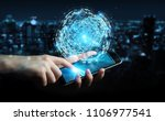 businessman on blurred... | Shutterstock . vector #1106977541