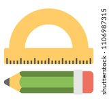 drafting tools  pencil and...   Shutterstock .eps vector #1106987315