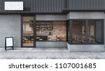front view cafe shop  ... | Shutterstock . vector #1107001685