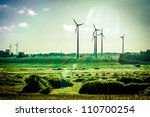 wind generators  ecology | Shutterstock . vector #110700254