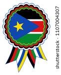 south sudan award ribbon vector ... | Shutterstock .eps vector #1107004307