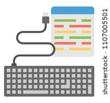 coding script along with... | Shutterstock .eps vector #1107005501