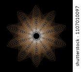 symbols of sacred geometry ... | Shutterstock .eps vector #1107010097