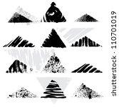 set of grunge triangles. vector | Shutterstock .eps vector #110701019