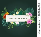 hello summer vector... | Shutterstock .eps vector #1107014501