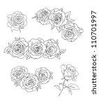Stock vector roses vector illustration 110701997