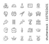 education doodle vector icons... | Shutterstock .eps vector #1107022631