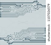 vector flat circuit board... | Shutterstock .eps vector #1107026579