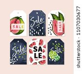 vector set of tag badges.... | Shutterstock .eps vector #1107030677