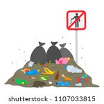 """near the sign """"stop garbage"""" is ... 
