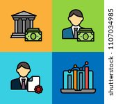 set of business and finance... | Shutterstock .eps vector #1107034985