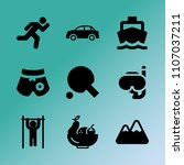 vector icon set about fitness... | Shutterstock .eps vector #1107037211