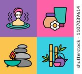 set of spa icons. vector... | Shutterstock .eps vector #1107039614