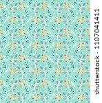 seamless vector floral pattern   Shutterstock .eps vector #1107041411