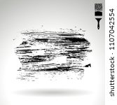 black brush stroke and texture. ... | Shutterstock .eps vector #1107042554