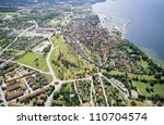 aerial view of a city in... | Shutterstock . vector #110704574