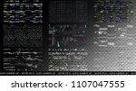 glitch elements set. computer... | Shutterstock .eps vector #1107047555