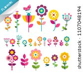 flower symbol. flowers icons.... | Shutterstock .eps vector #1107048194