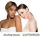 different races woman beauty... | Shutterstock . vector #1107049034