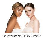 different races woman beauty... | Shutterstock . vector #1107049037