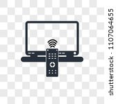 tv remote vector icon isolated... | Shutterstock .eps vector #1107064655