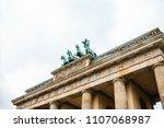 brandenburg gate in berlin ... | Shutterstock . vector #1107068987