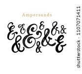 vector set of handwritten... | Shutterstock .eps vector #1107071411