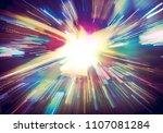 futuristic explosion in... | Shutterstock . vector #1107081284