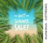 vector summer poster framed... | Shutterstock .eps vector #1107082601