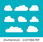 clouds silhouettes. vector set... | Shutterstock .eps vector #1107086789