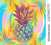 Pineapple With Branches Of A...