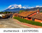 guatemala. antigua. there are... | Shutterstock . vector #1107093581