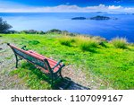 awesome view from red wooden... | Shutterstock . vector #1107099167