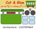 paper game for the development... | Shutterstock .eps vector #1107099869