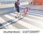Cyclist In Sportswear And A...