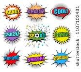 comic colorful speech bubbles... | Shutterstock .eps vector #1107102431