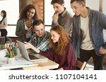 creative multiethnic business... | Shutterstock . vector #1107104141