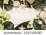 beauty spa background  top view.... | Shutterstock . vector #1107105287