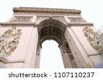 arc de triomphe arch of triumph ... | Shutterstock . vector #1107110237