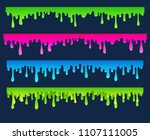 cartoon flowing down paint ... | Shutterstock .eps vector #1107111005