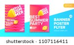 vector electronic music summer... | Shutterstock .eps vector #1107116411