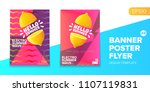 vector electronic music summer... | Shutterstock .eps vector #1107119831