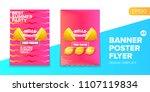 vector electronic music summer... | Shutterstock .eps vector #1107119834