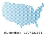 hex tile usa map. vector... | Shutterstock .eps vector #1107121991